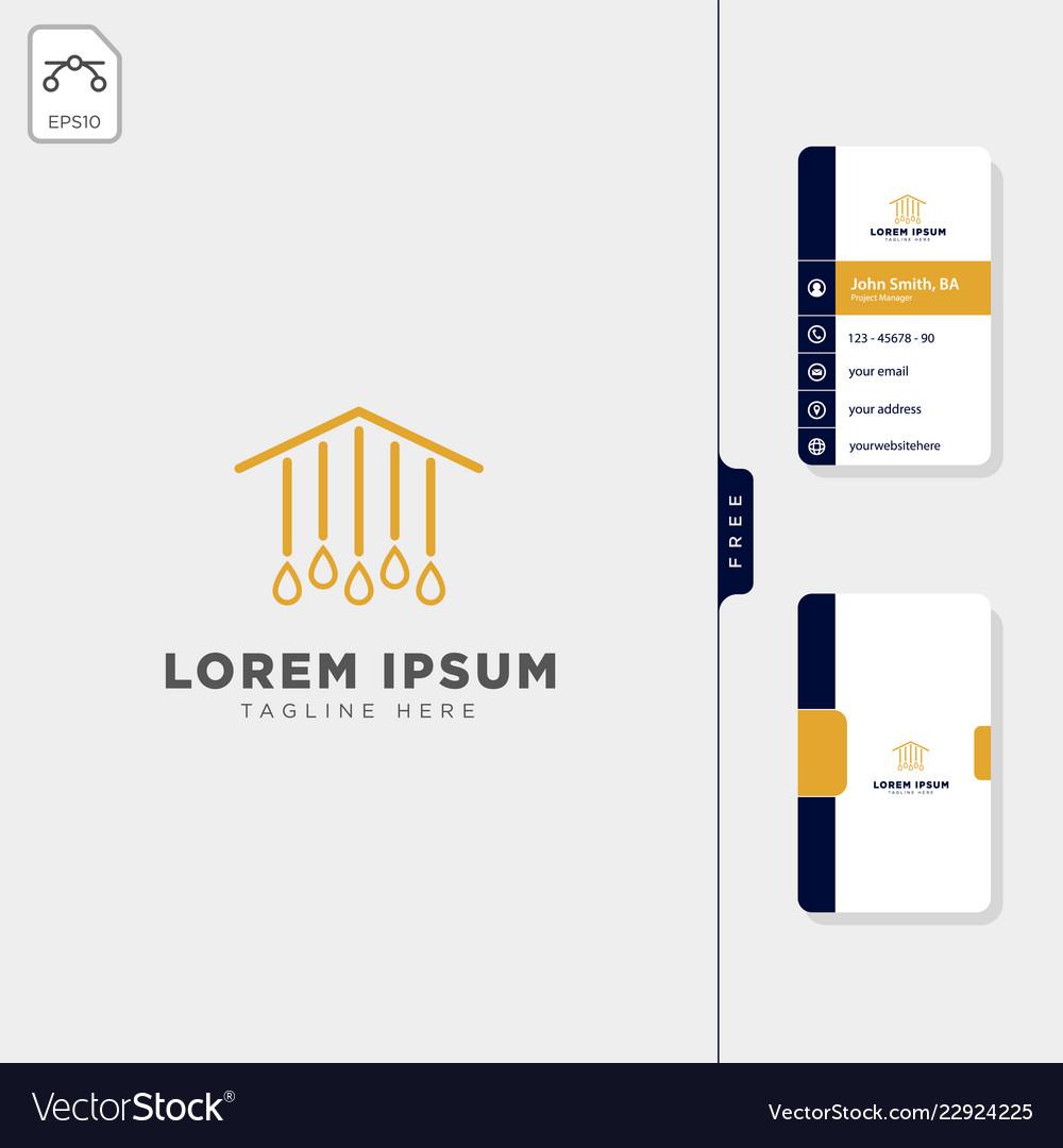 Lamp light interior logo template free business