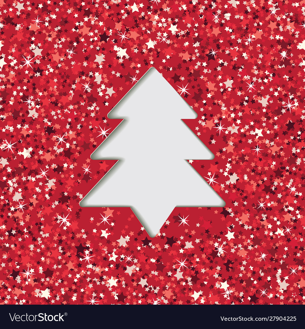 Layered cut out paper greeting card with christmas