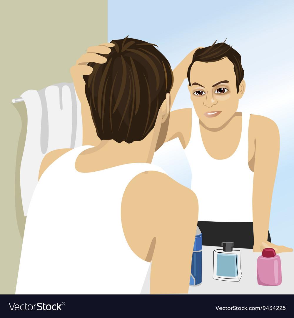 looking in mirror.  Mirror With Looking In Mirror