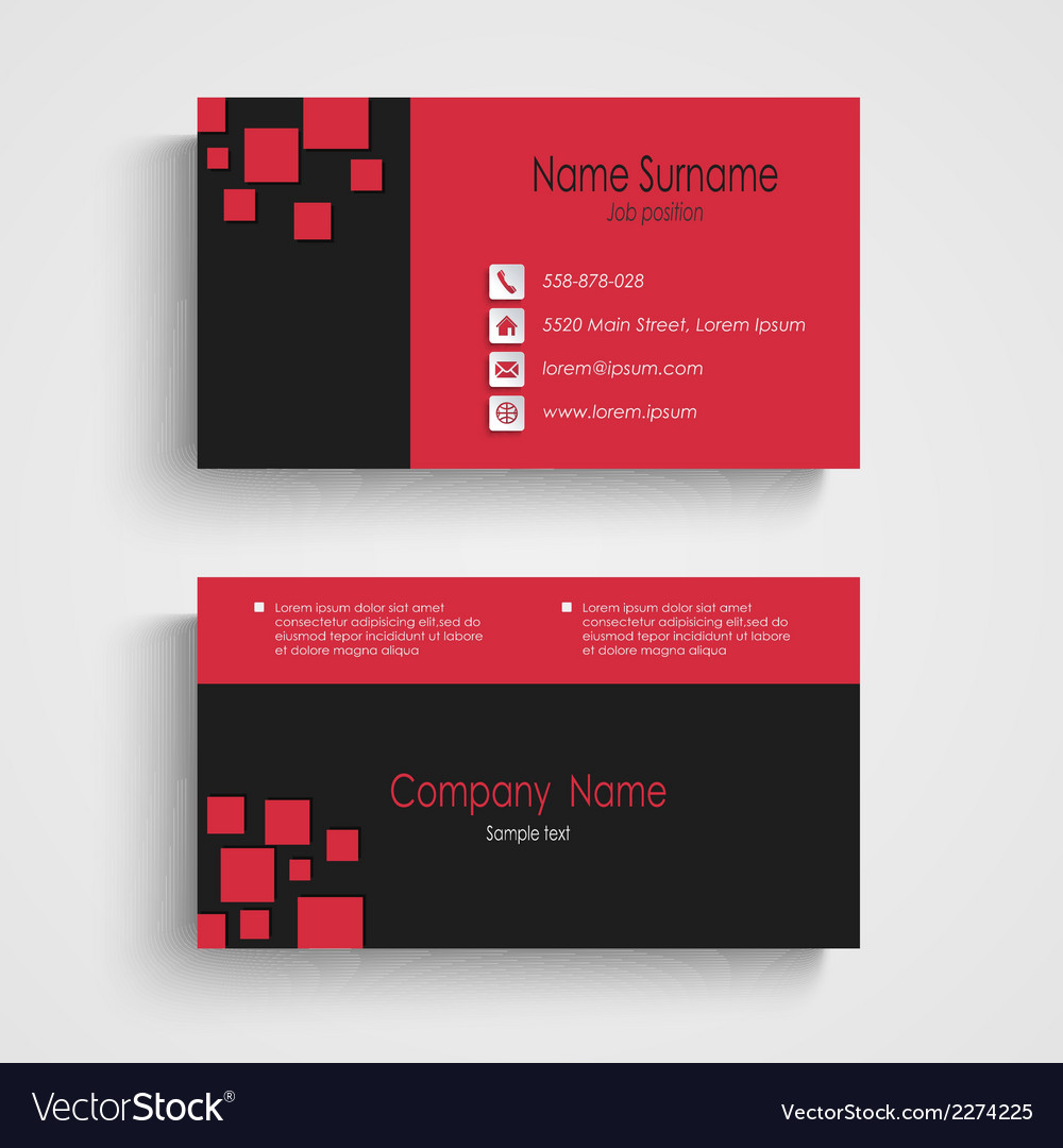 Modern sample business card template royalty free vector modern sample business card template vector image accmission Image collections