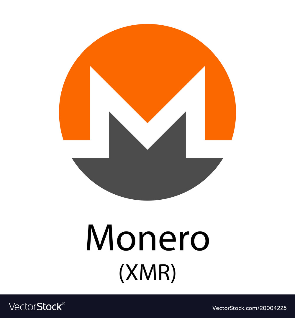 Monero cryptocurrency symbol vector image