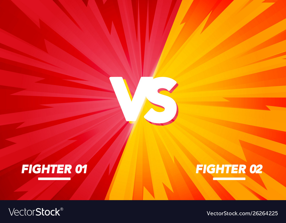 Versus screen fight background yellow vs red
