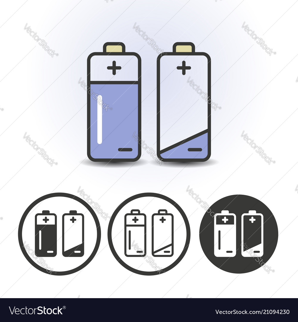 Battery full and empty icons