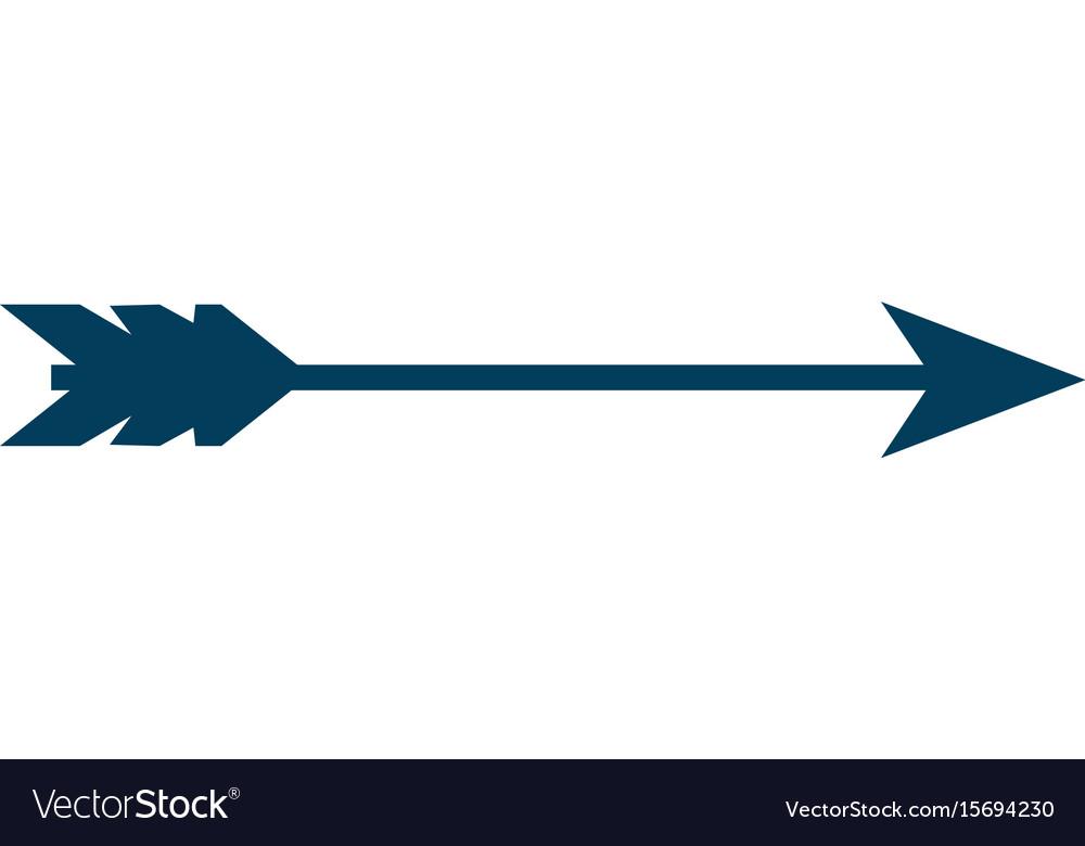 Bow arrow isolated