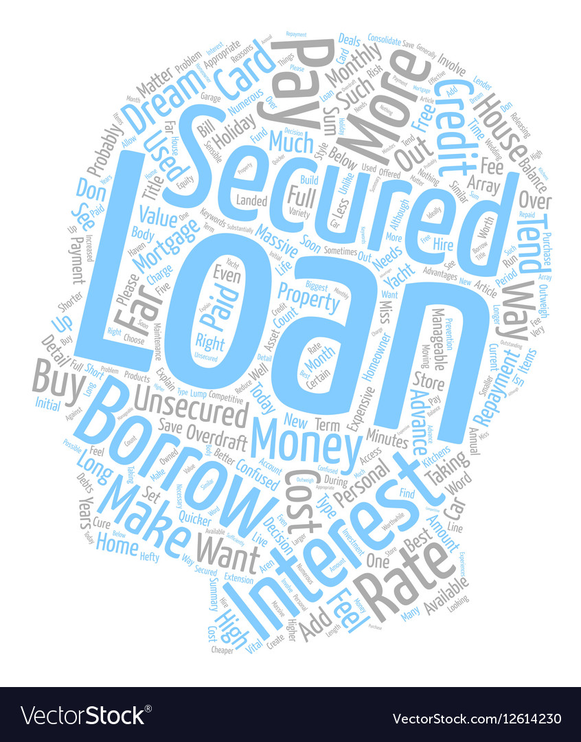Please Explain What A Secured Loan Is text