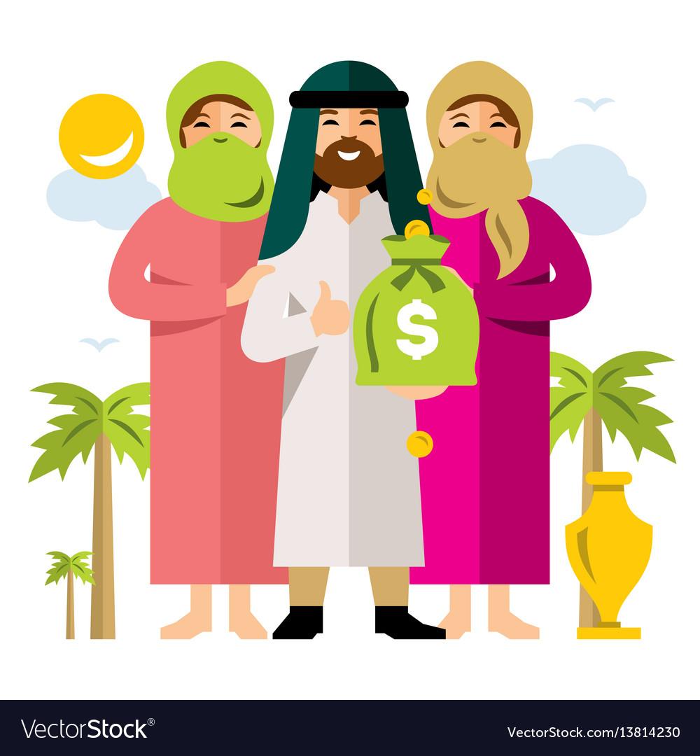 Polygamy saudi man and his harem flat