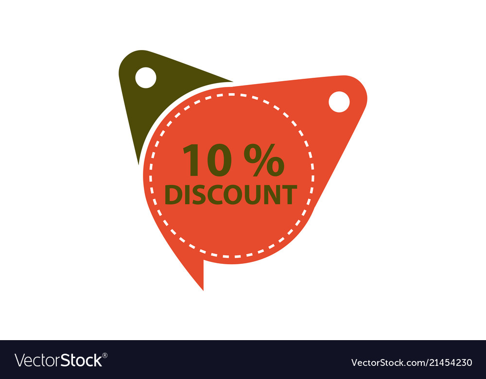 Tag discount label 10 percent