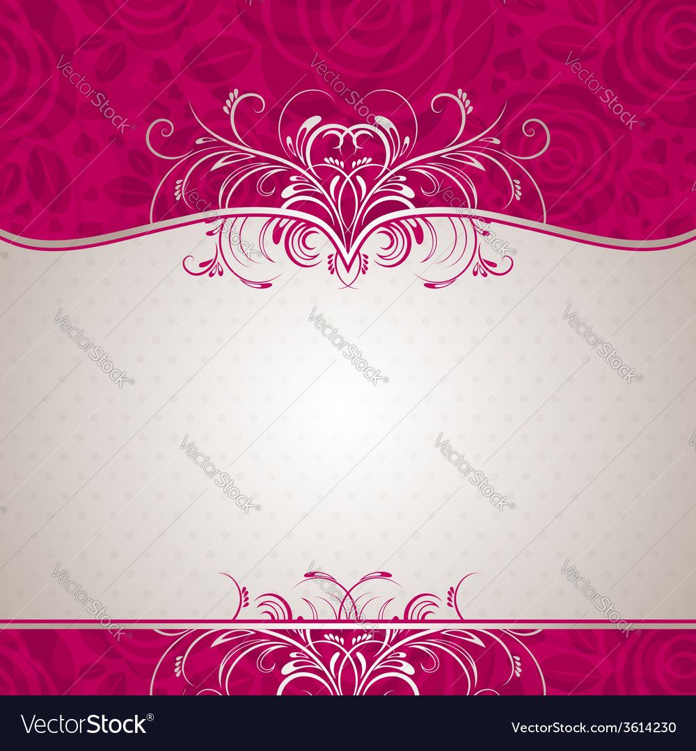 Valentine background with many roses