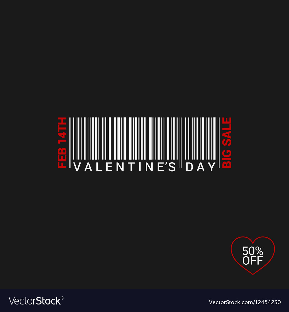 Valentines Day Bar Code Logo Background