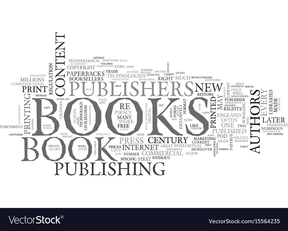 a brief history of the book text word cloud vector image