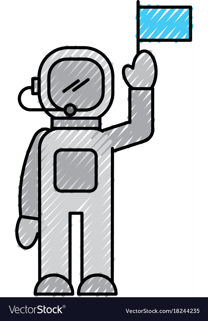 Astronaut in space suit character profession