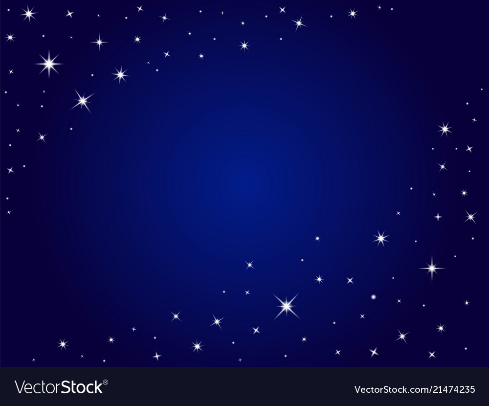 Blue space stars background night sky