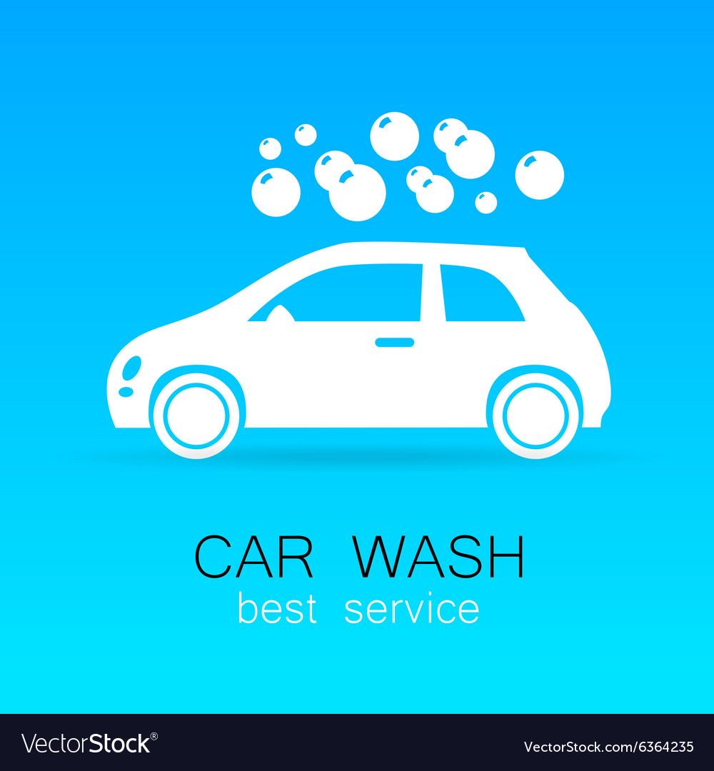 Car wash sign logo