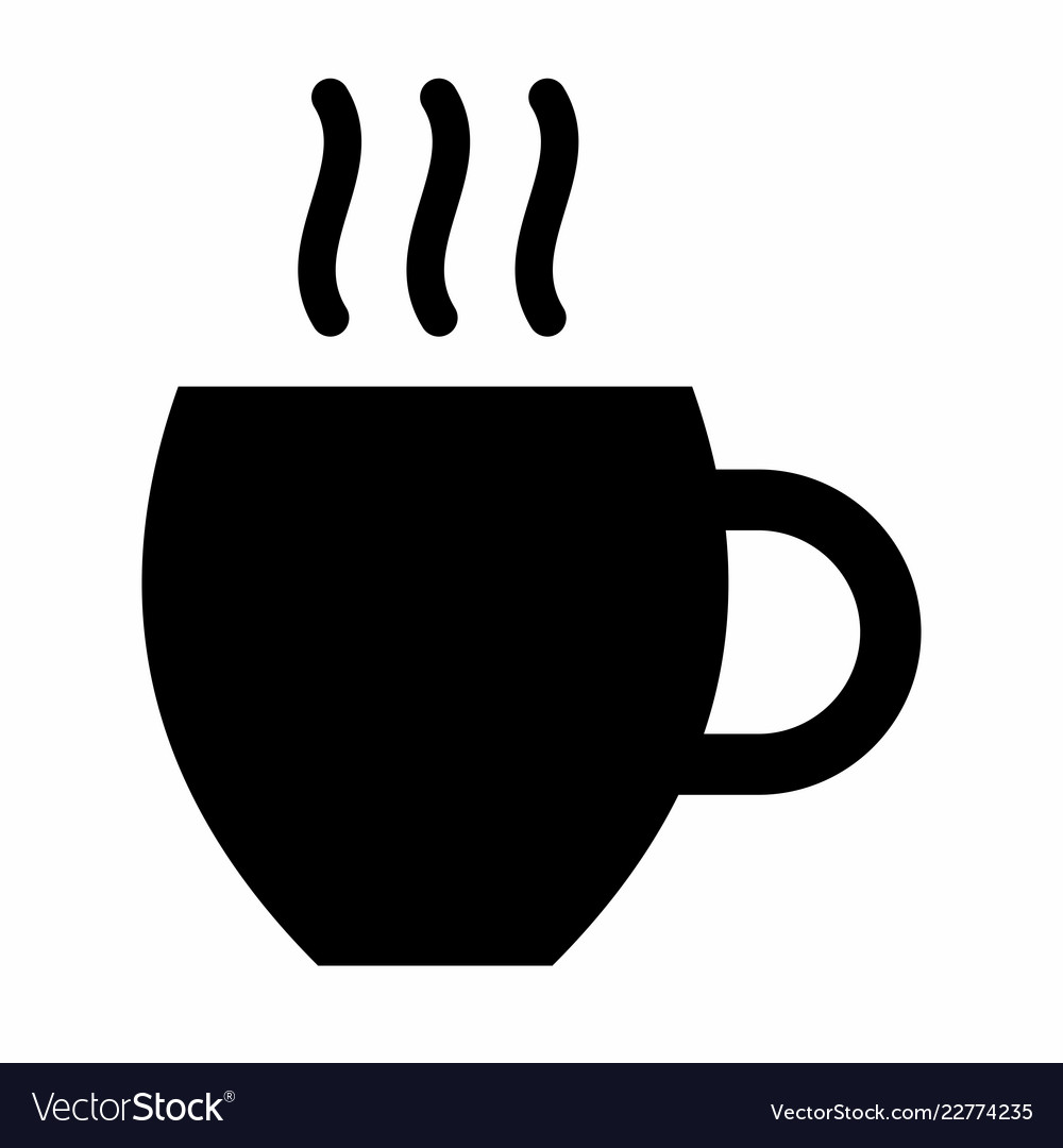 Cup dark silhouette
