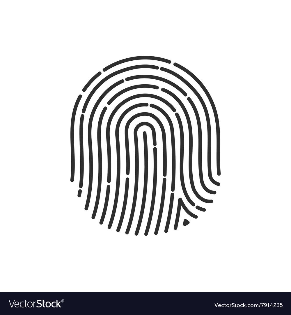 Fingerprint Icon Image Flat fingerprint icon app