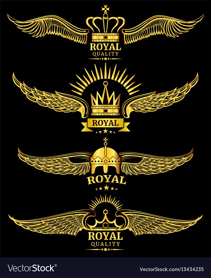 Golden wing crown royal logo