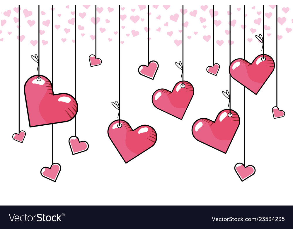 Heart hanging background
