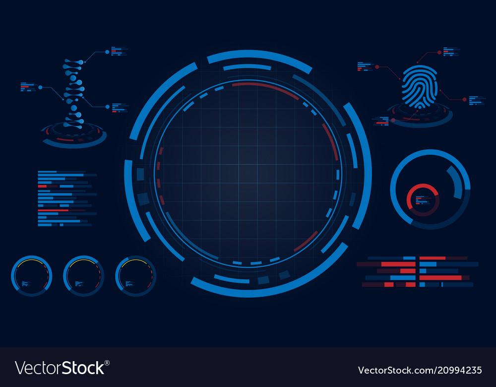 Hud screen display dna and fingerprint data