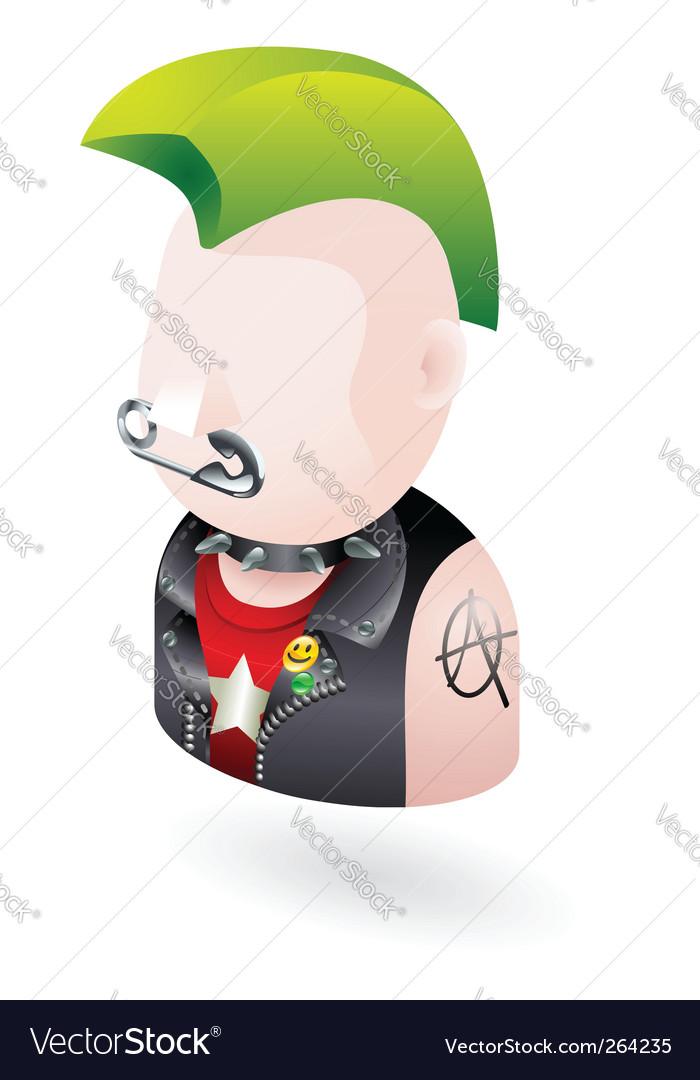 Punk icon vector image