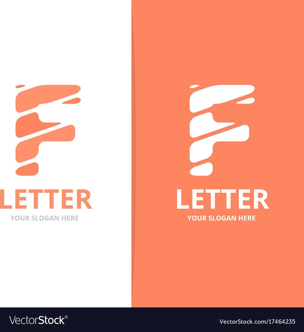 unique letter f logo design template royalty free vector