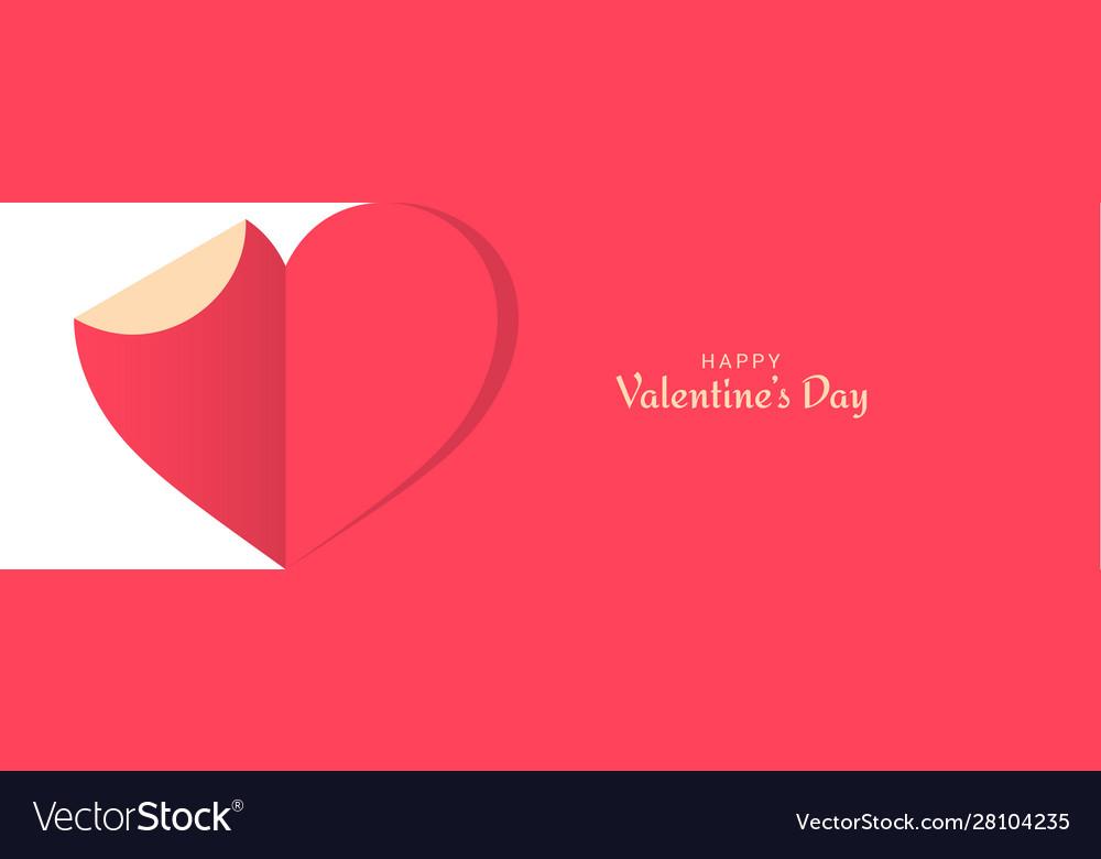 Valentines day banner cut paper valentines day