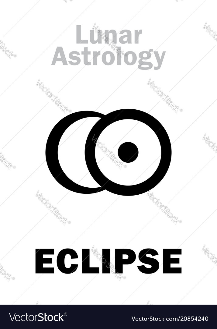 Astrology eclipse vector image
