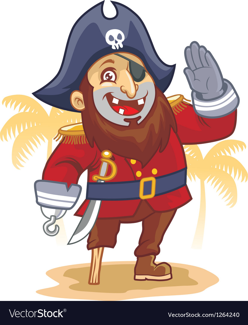 Cartoon pirate salute