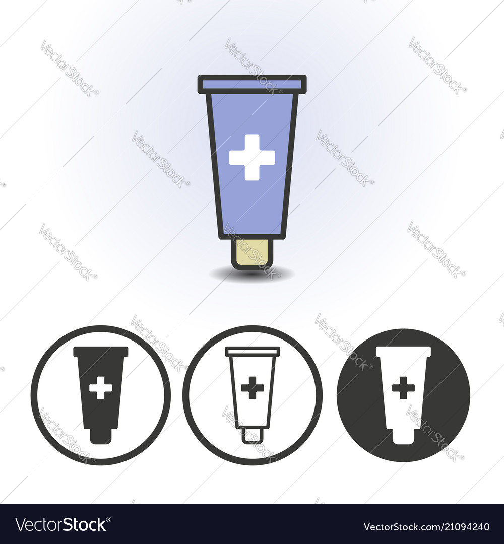 Cosmetics or medical cream icon