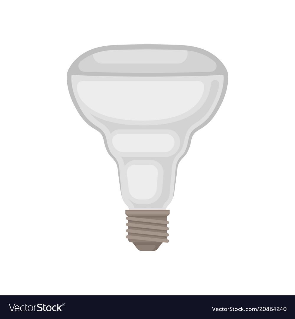 Flat icon of halogen lamp gray light bulb