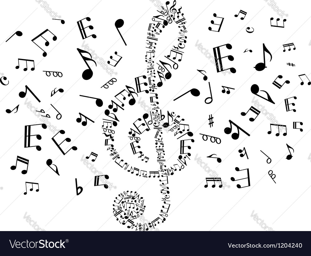 Musical clef with notes