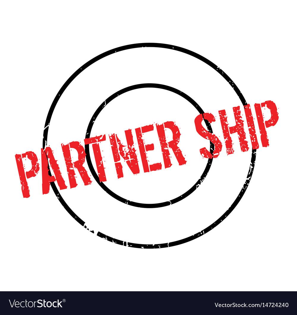 Partner ship rubber stamp