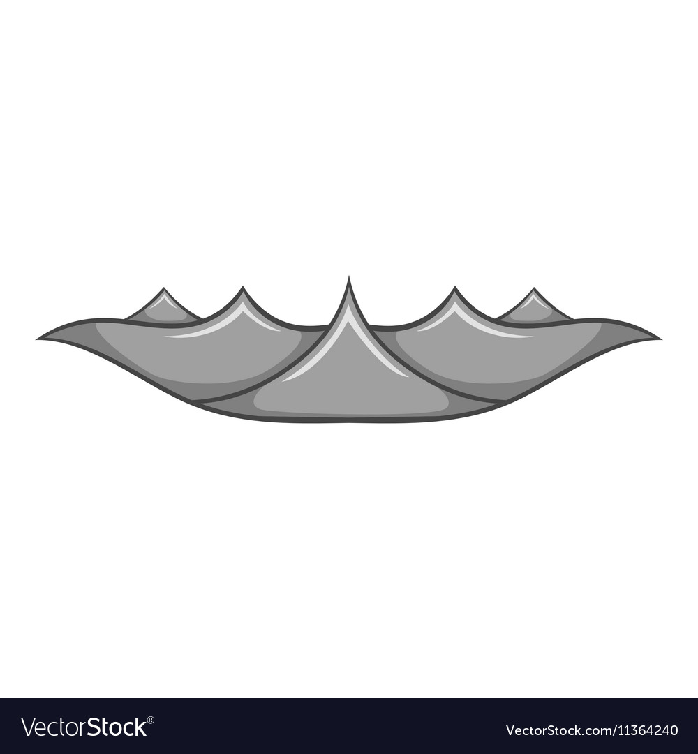 Ripple wave icon cartoon style vector image