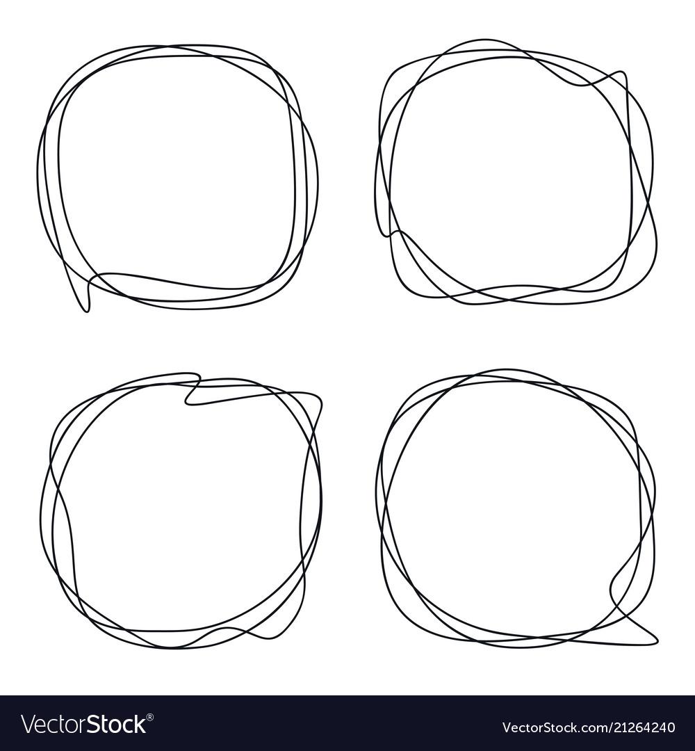 speech bubble collection abstract frames vector image
