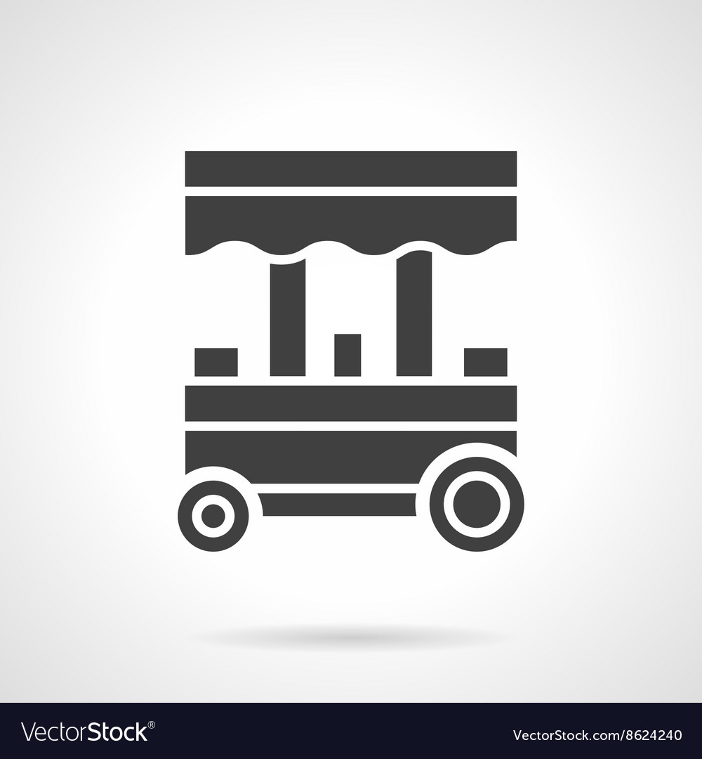 Trade trolley glyph style icon
