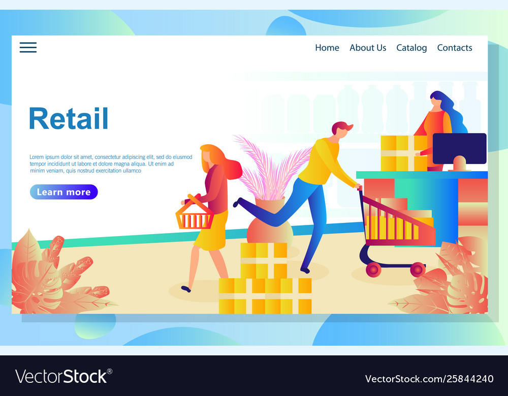 Web page design template for online shopping e