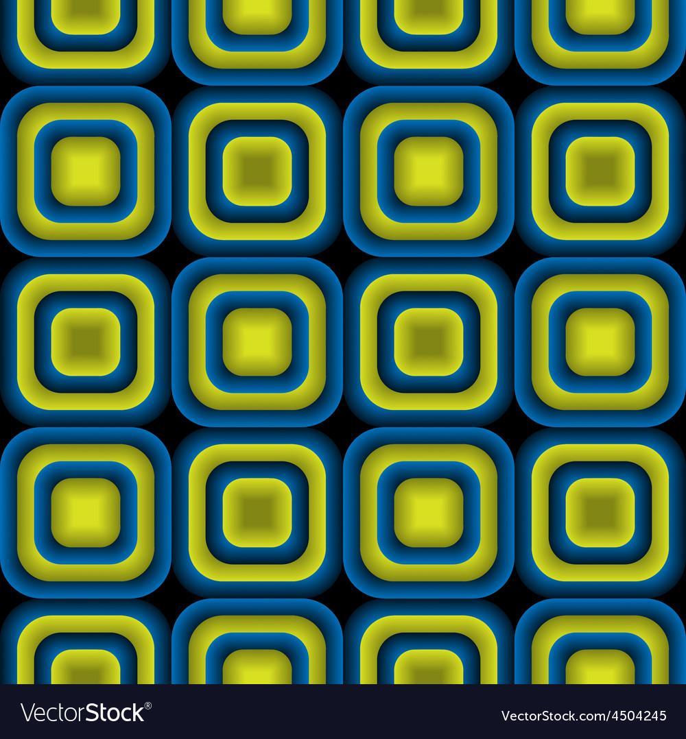Bulge Squares Optical Seamless Pattern