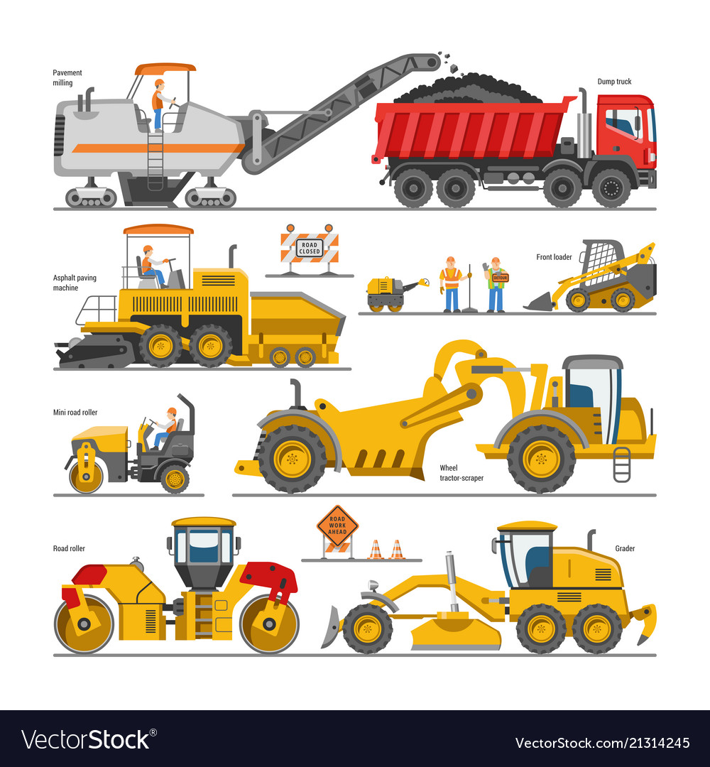 Excavator for road construction digger or