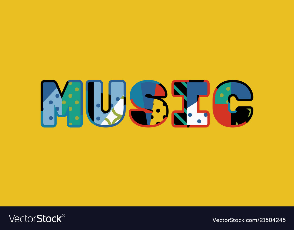 Music Concept Word Art Royalty Free Vector Image