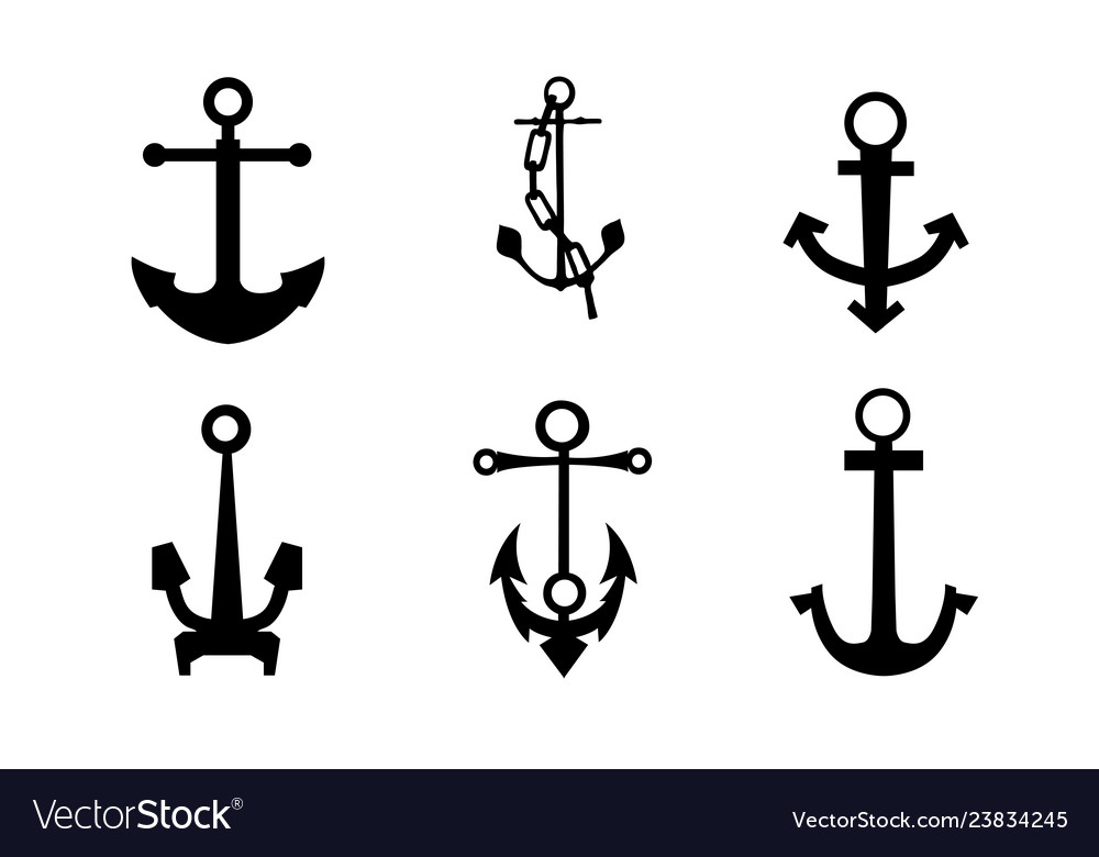 Sea anchors silhouette