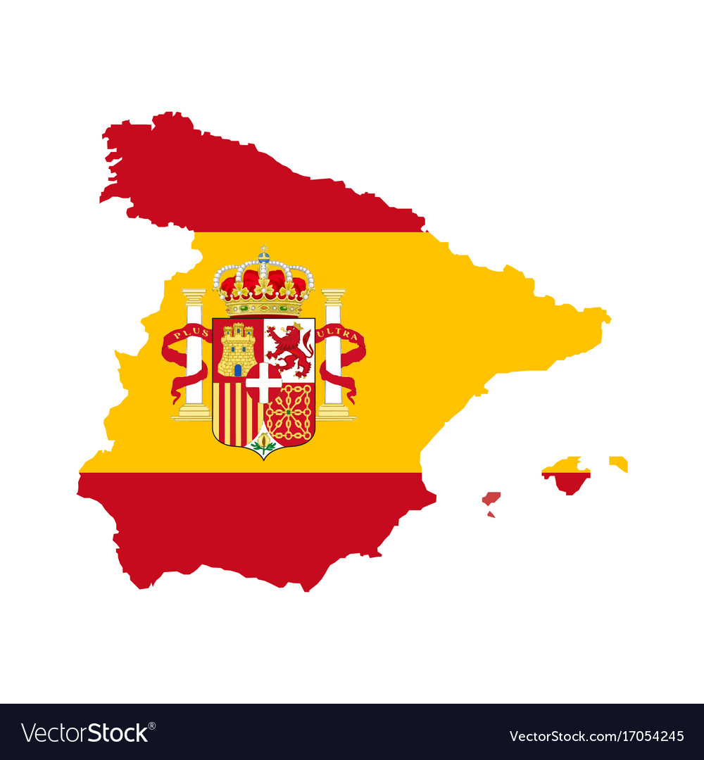 Map Of Spain Download Free.Spain Map With Spain Flag Inside