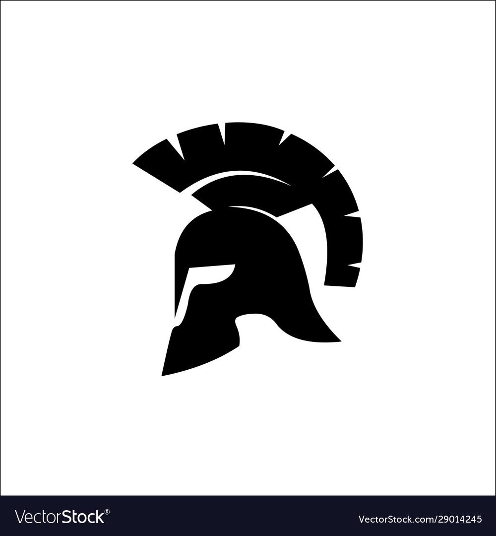 Spartan helmet silhouette helmet icon black