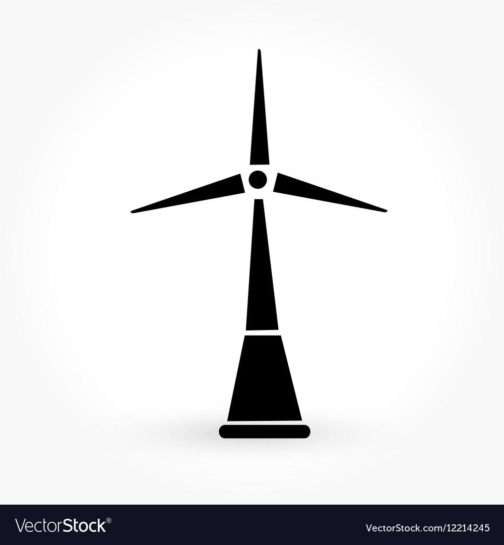 Wind Turbine Icon Royalty Free Vector Image Vectorstock