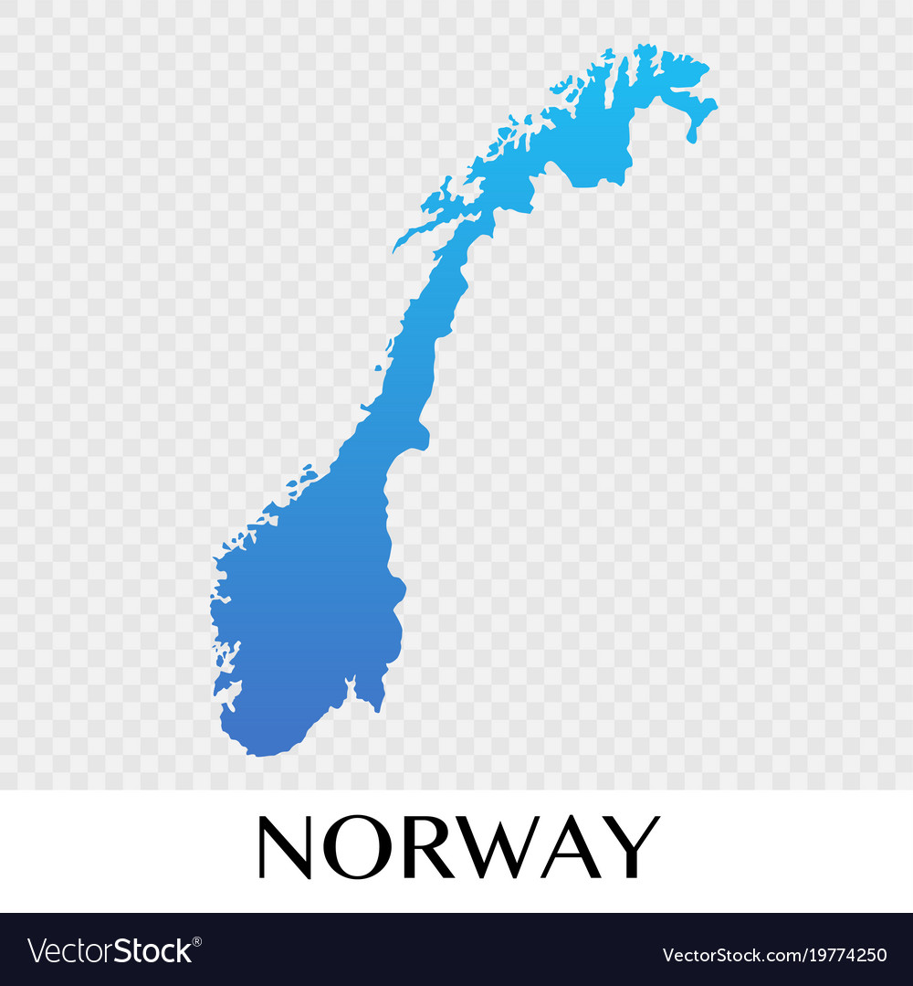 Norway On Map Of Europe.Norway Map In Europe Continent Design Royalty Free Vector