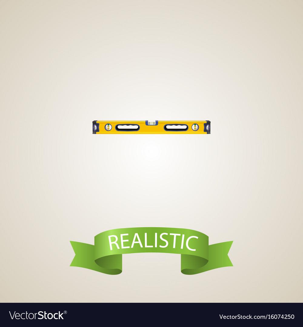 Realistic bubble level element