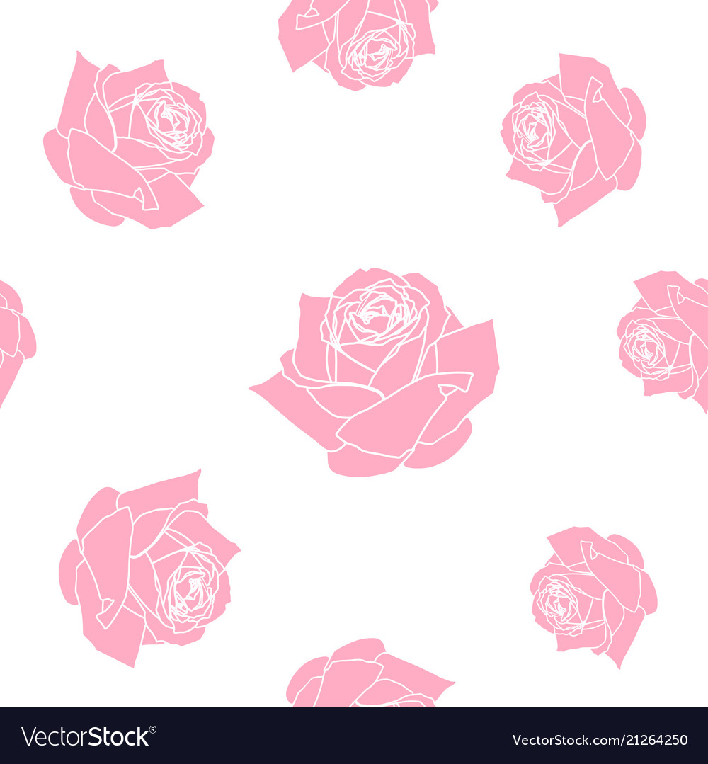 Red roses seamless pattern background