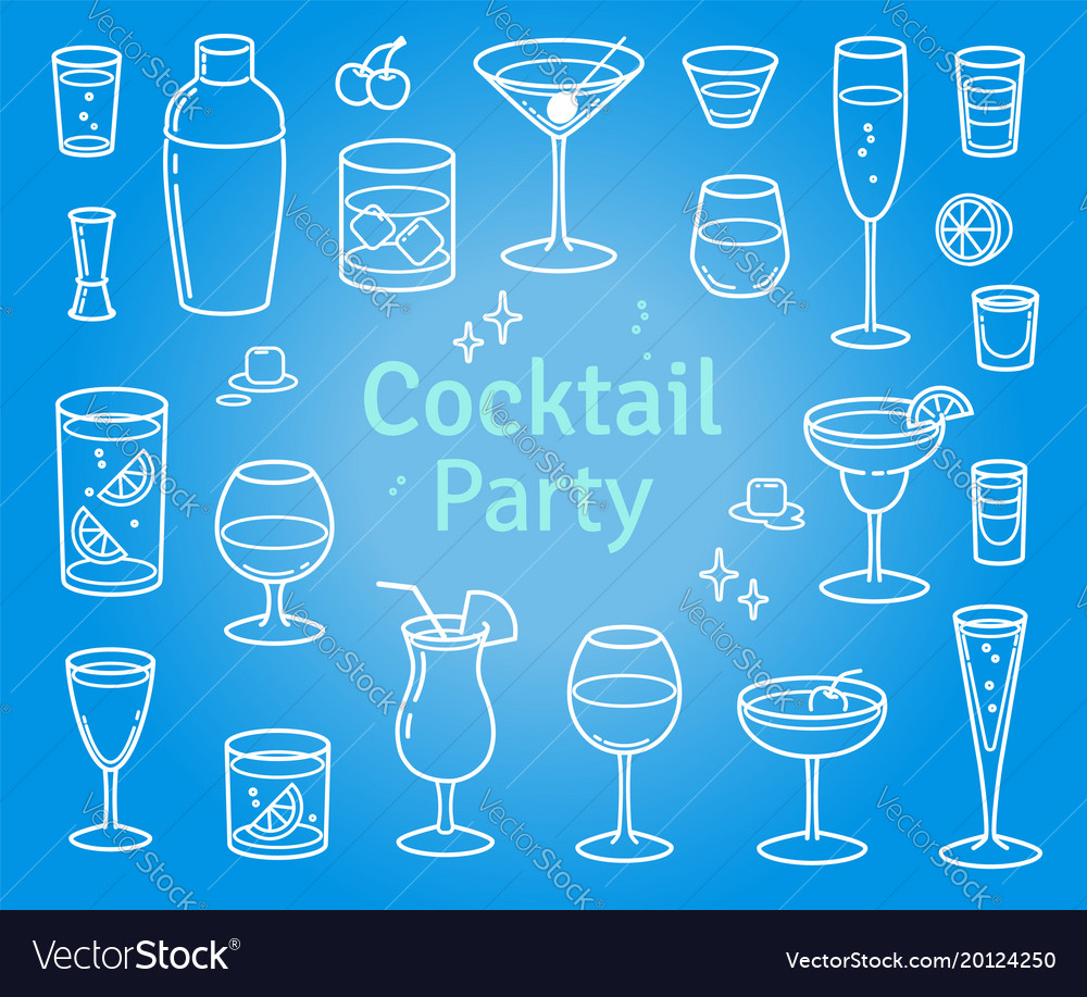 Set cocktails and alcohol drinks
