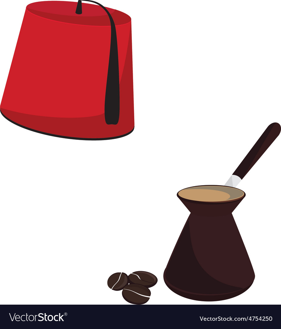 Turkish hat and coffee pot