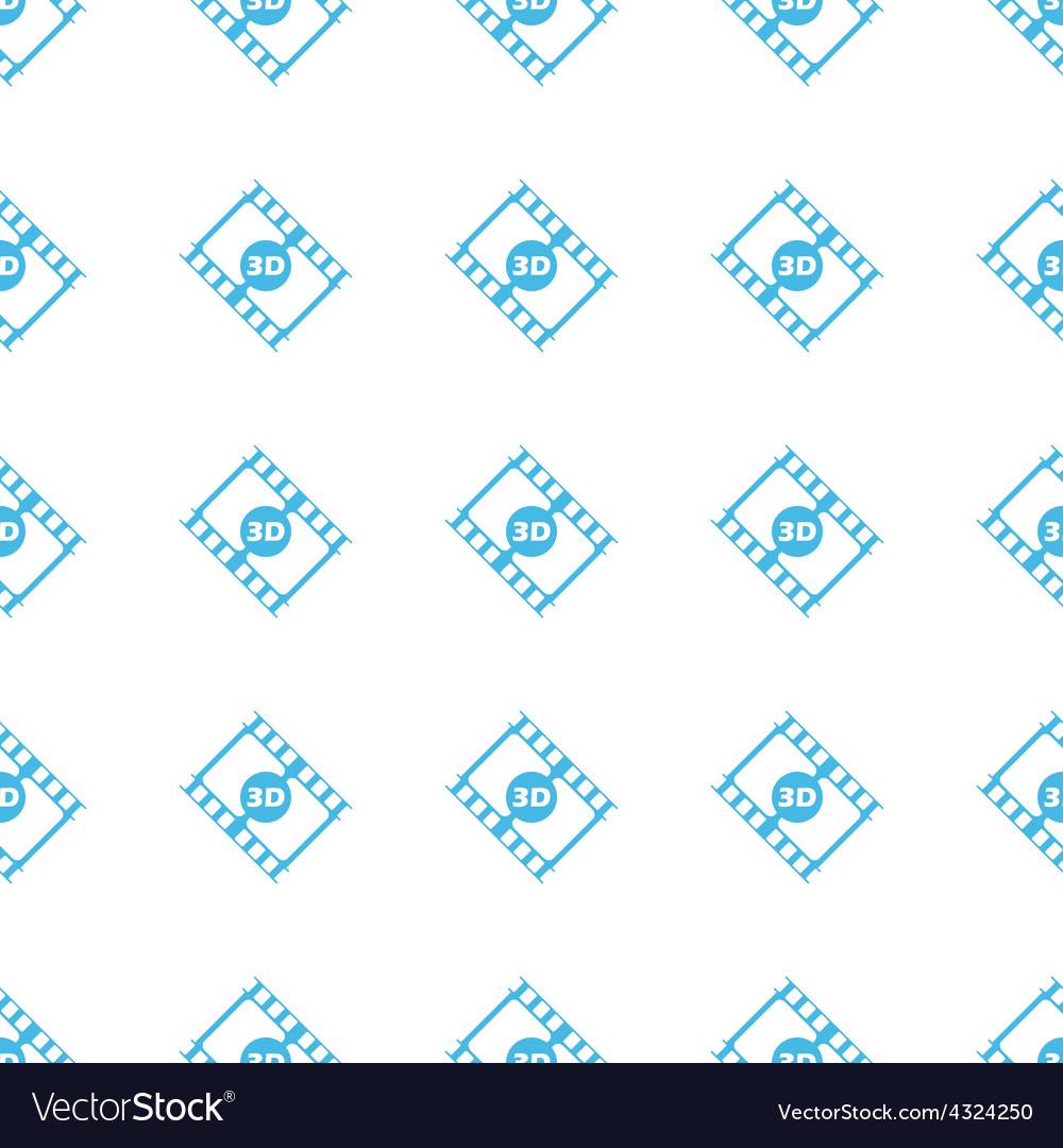 Unique 3d film seamless pattern