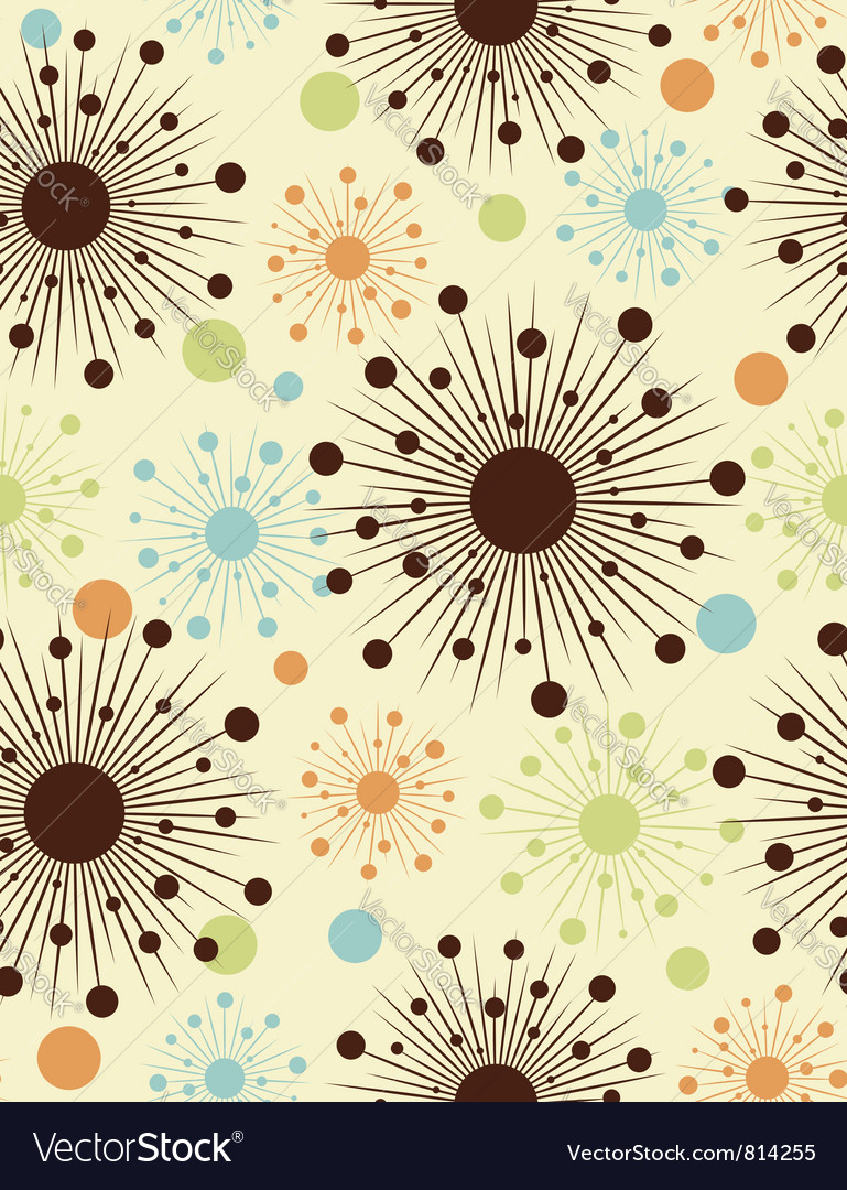 Abstract retro dots - seamless pattern