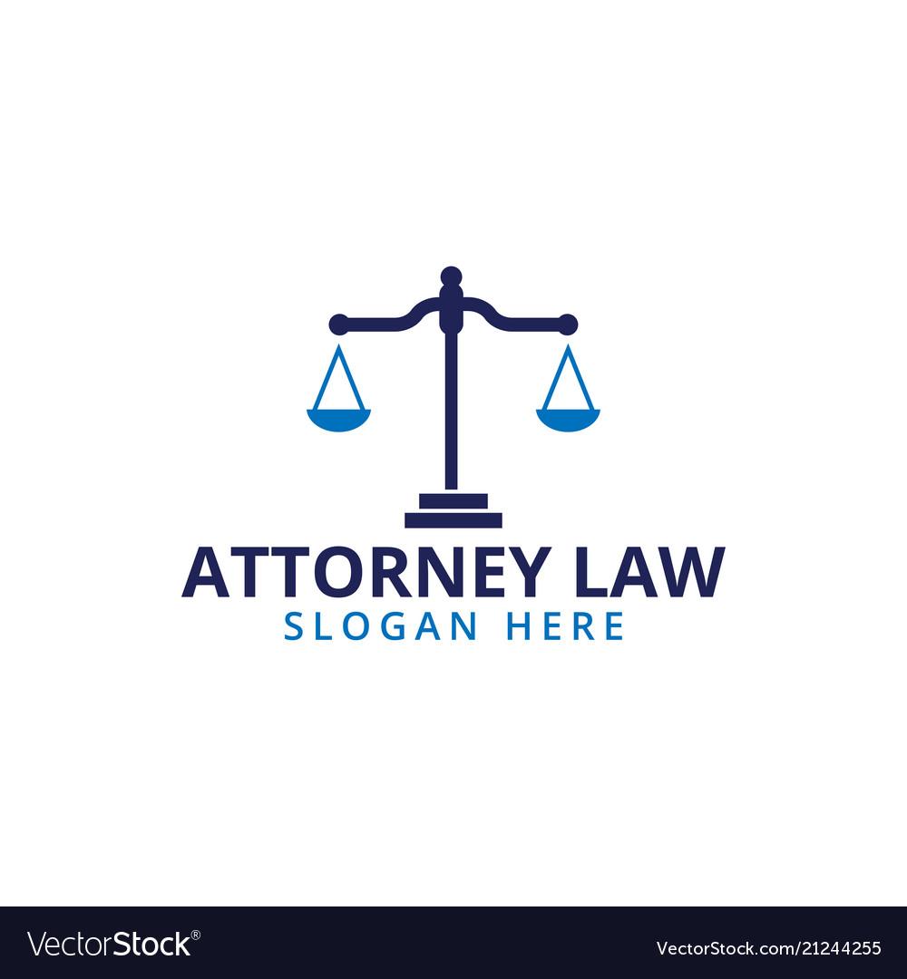 Attorney law scale logo icon template vector image